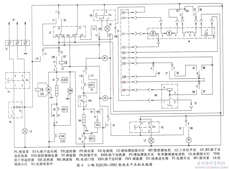 海尔滚筒洗衣机电路解析