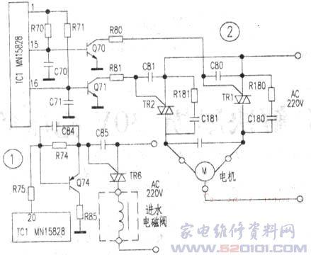 xqb60-m808电源电路图
