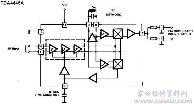 伴音处理电路tda4445a