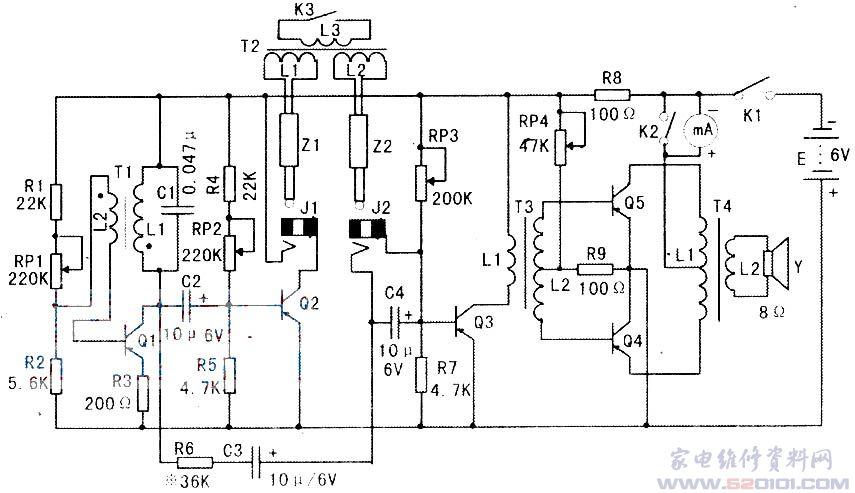 本电机短路测试仪的电路如附图