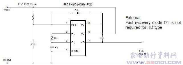 镇流器电路ir53h(d)420