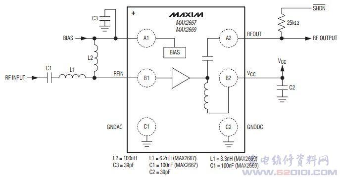 gps/gnss低噪声放大器max2669