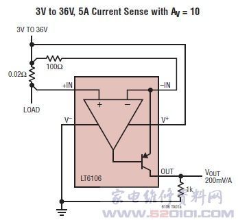 d类音频功率放大电路ltc6104