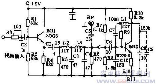 射频调频器的电路如图1所示